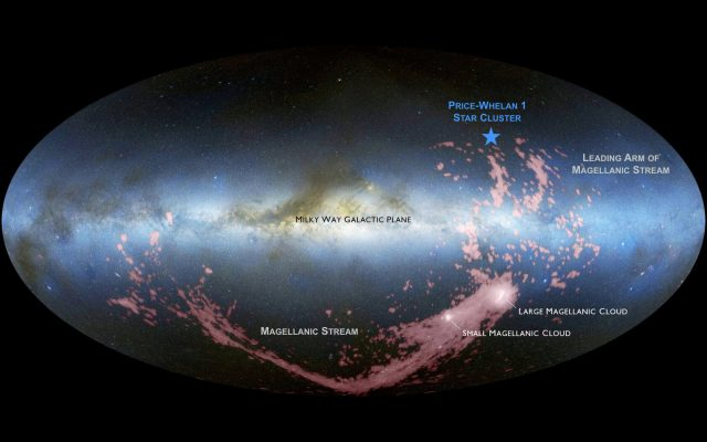 The Milky Ways impending galactic collision is already birthing new stars