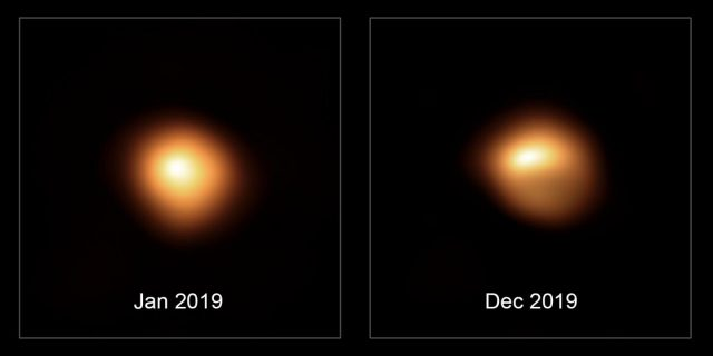 Dimming Betelgeuse likely isnt cold just dusty new study shows