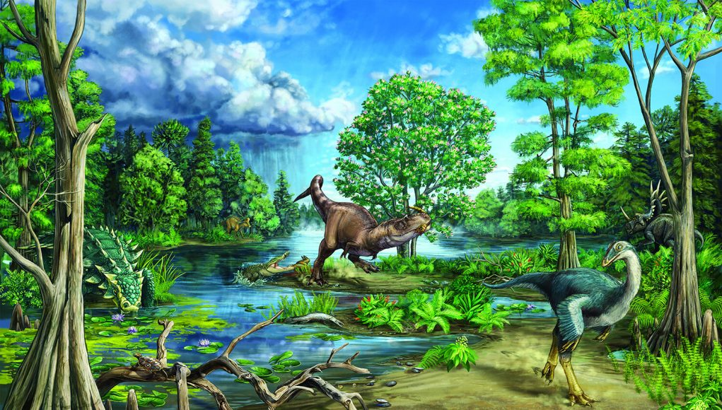 Late cretaceous dinosaur dominated ecosystem