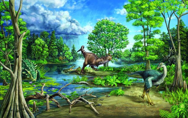 Late cretaceous dinosaur dominated ecosystem