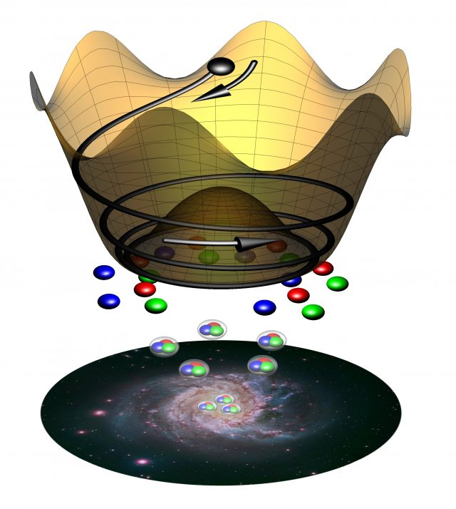 Paper sheds light on infant universe and origin of matter scaled