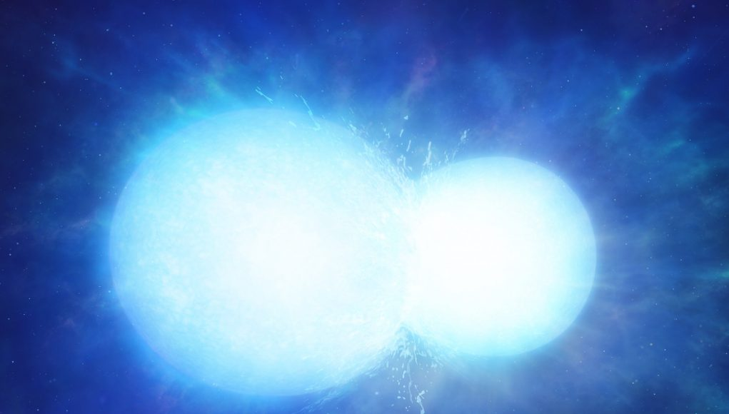 Two stars merged to form massive white dwarf scaled