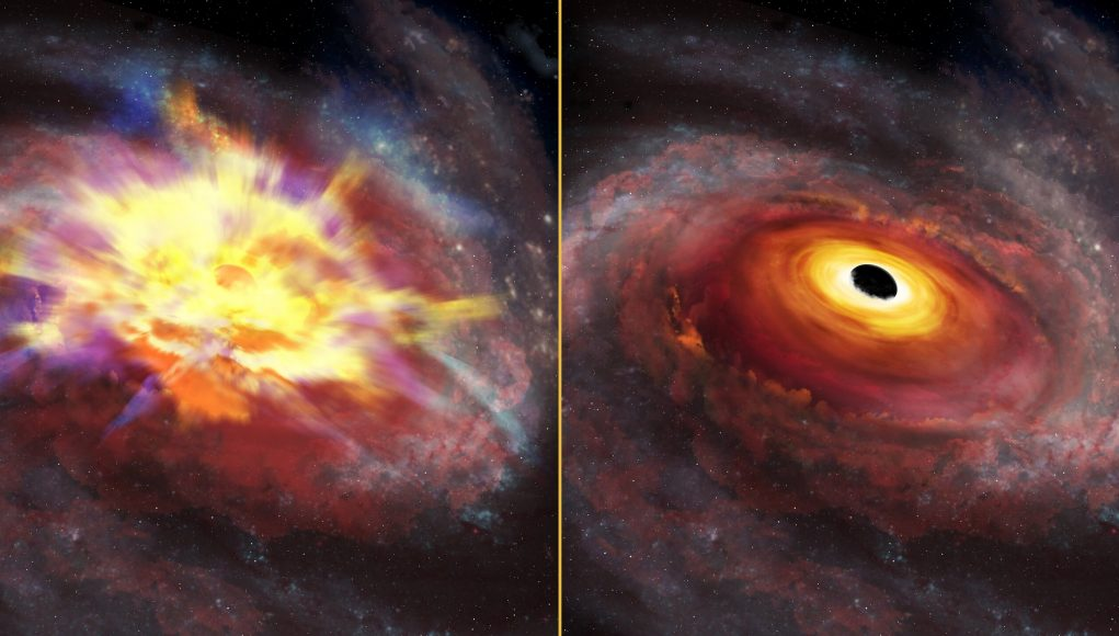Cosmic tempest Astronomers detect most energetic outflow from a distant quasar scaled