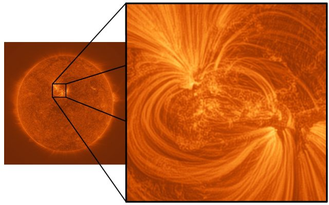 New images reveal fine threads of million degree plasma woven throughout the Suns atmosphere
