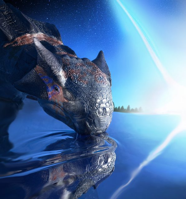 Asteroid impact not volcanoes made the Earth uninhabitable for dinosaurs