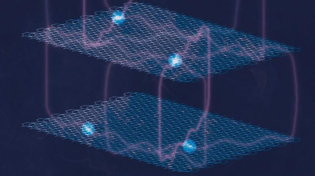 Quantum effect observed in large metal