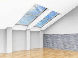 Glass like wood insulates heat is tough blocks UV and has wood grain pattern