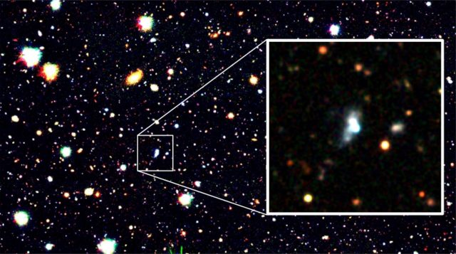 Machine learning finds a surprising early galaxy