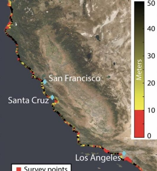Satellite survey shows Californias sinking coastal hotspots