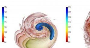 Unequal neutron star mergers create unique bang in simulations