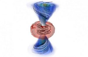 Improved model shows gamma rays and gold at merging neutron stars