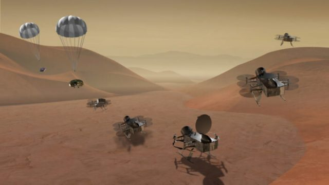Recipe is different but Saturns moon Titan has ingredients for life