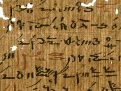 Red and black ink from Egyptian papyri unveil ancient writing practices 1