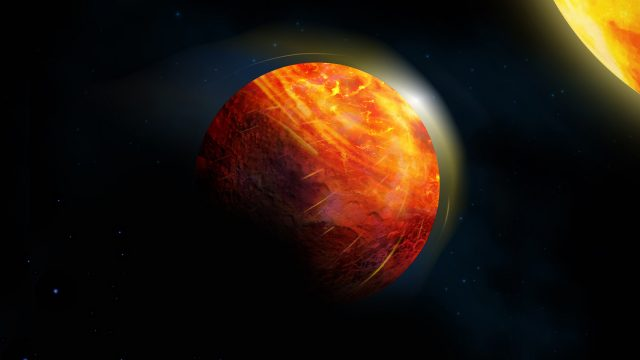 Supersonic winds rocky rains forecasted on lava planet