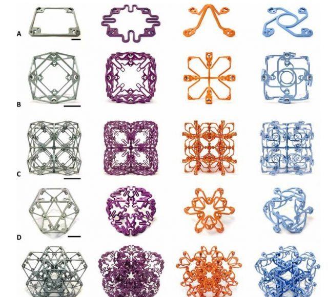 Versatile building blocks make structures with surprising mechanical properties
