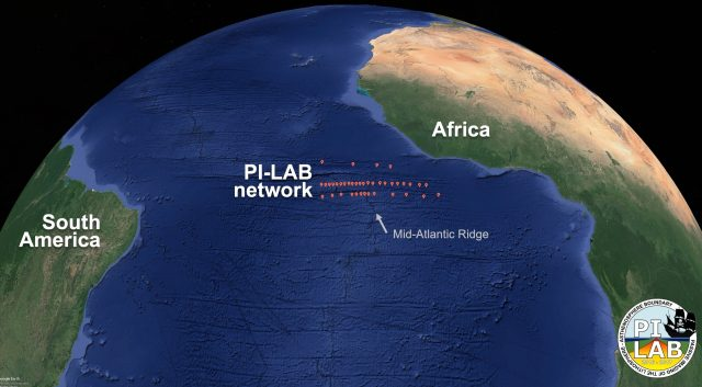 Geological phenomenon widening the Atlantic Ocean