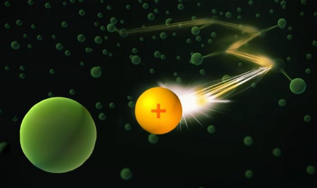 Researchers guide a single ion through a Bose Einstein condensate