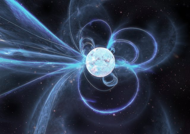 Astronomers spot bizarre never before seen activity from one of the strongest magnets in the universe