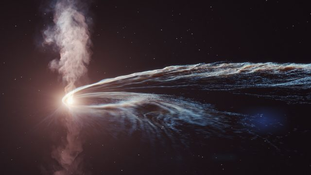 Ghost particle from shredded star reveals cosmic particle accelerator