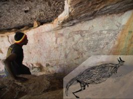 New dating techniques reveal Australias oldest known rock painting and its a kangaroo
