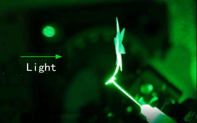 Controlled by light alone new smart materials twist bend and move