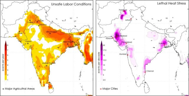 Deadly heat waves will be common in South Asia even at 1.5 degrees of warming