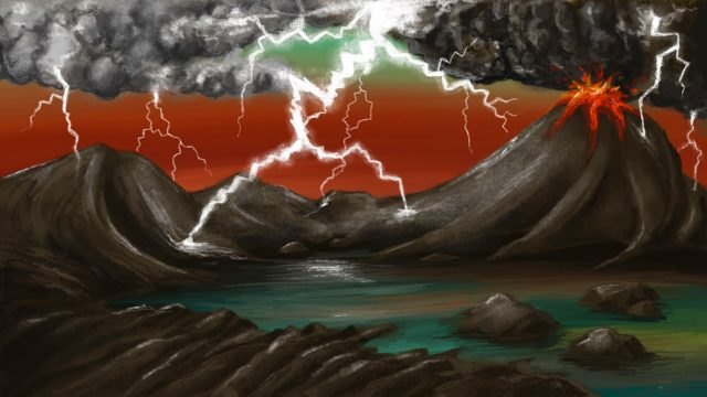 Lightning strikes played a vital role in lifes origins on Earth