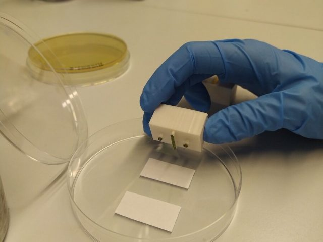 Researchers design a biological device capable of computing by printing cells on paper