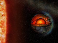 Volcanoes might light up the night sky of this exoplanet