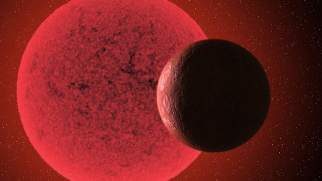 A new super Earth detected orbiting a red dwarf star