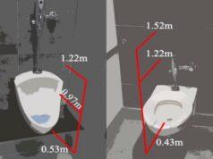 Flushing a public toilet