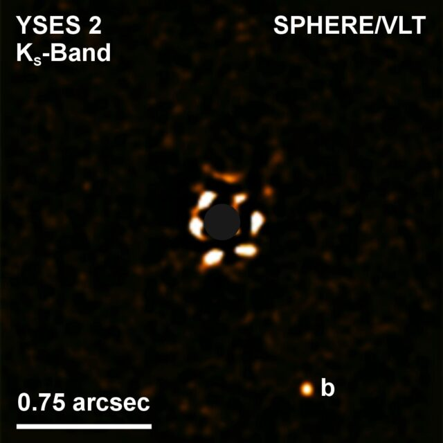 Giant planet at large distance from sun like star puzzles astronomers