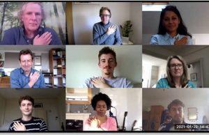 Hand signals improve video meeting success
