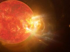 Humongous flare from suns nearest neighbor breaks records