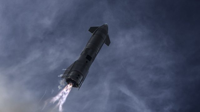 Starship SN10 High Altitude Flight Test Photo by SpaceX