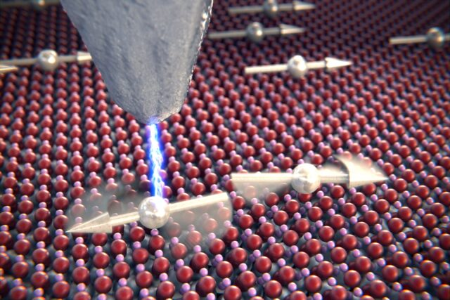Scientists overhear two atoms chatting