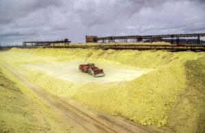 Sulfur mounds